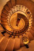Death Valley - Scotty's Castle spiral stairway