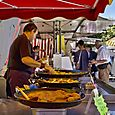 Food vendor in Forcalquier