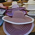 Hats in the market in Forcalquier