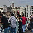Fishing from the Galata Bridge