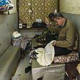 Men sewing