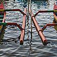 Boats at Lake Beratan 1