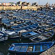 Blue boats without nets