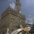 New sculpture in the Piazza della Signoria in Florence