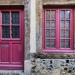 Purple door and window