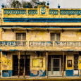 Yellow and blue building