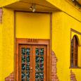 Doorway in yellow building