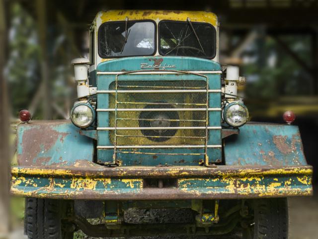 Cyan truck