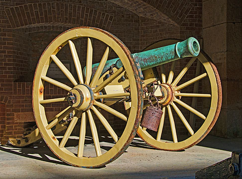 Cannon at Fort Point