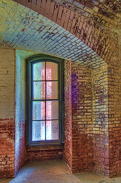 Tall window at Fort Point