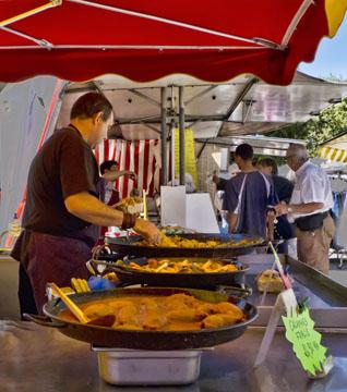 Food vendor in Forcalquier