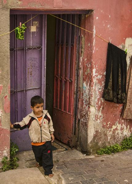 Boy and door
