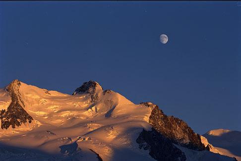 Gorner Glacier near sunset