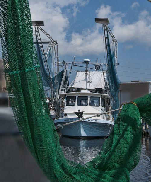 Boat in net
