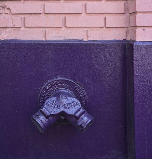 Purple standpipe