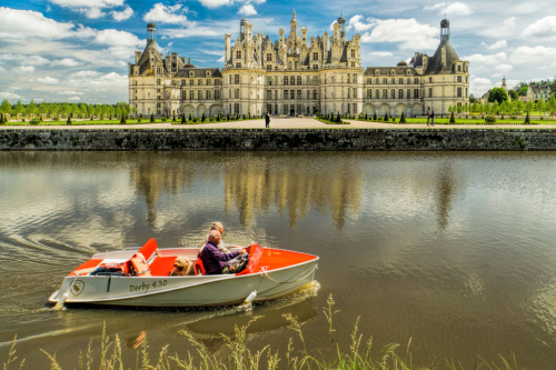 Chambord with tourists