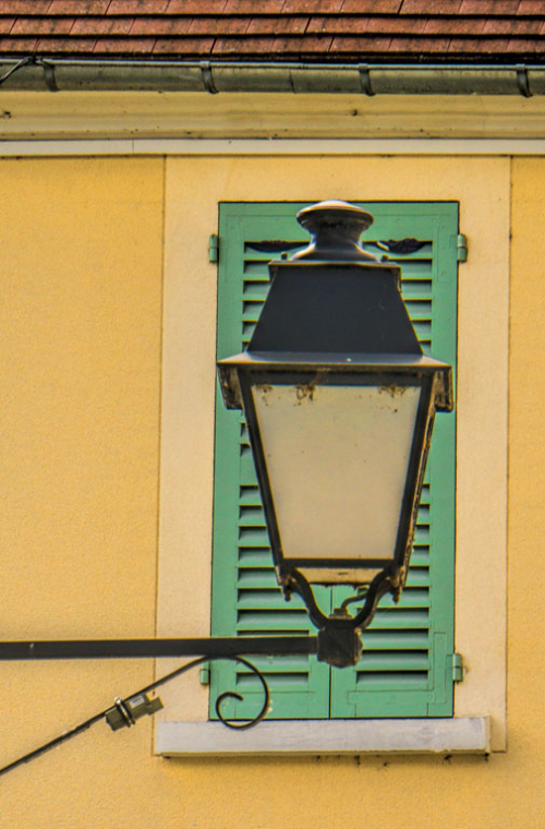 Lamp and shutter