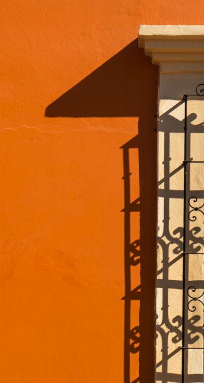 Orange and shadows