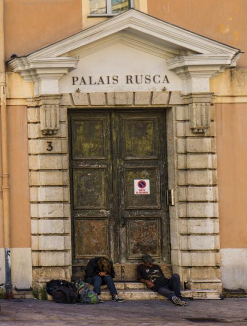 Grungy palace
