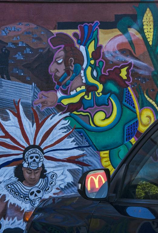 Mural and burger