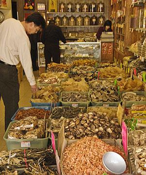 Chinatown Mushroom market